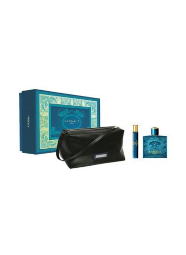 Versace Eros EDT 100 ml + Eros EDT 10 ml +Çanta Erkek Parfüm Seti Renksiz